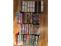 Over 100 DVDs and Bluray -TV series and movies