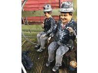 Laurel and Hardy Garden Ornament