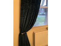 Beautiful crushed velvet curtains 90 by 90