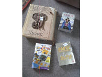 photo album and tarol cards and book