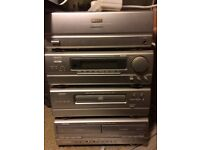 4 piece denon separates double tape deck CD player radio .amplifier