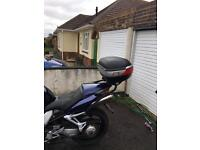 Givi luggage rack and top box for Honda VFR800