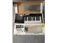 Rock Band 3 keyboard with game for Nintendo Wii
