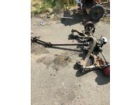 Sierra front and rear axels complete with diff and breaks ford Sierra