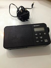 Sony Xdr-S40Dbp Light Easy And Portable Dab/Dab+ And FM Radio Black