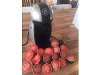 Dolce Gusto machine and pods