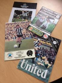4 old NUFC Programmes