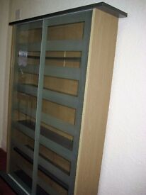 DVD/CD bookcase 5 divisions 4 shelves two glass doors handy for all your CD collectivisation