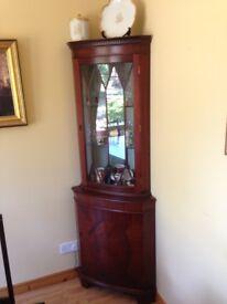 Beautiful Edwardian style corner display cabinet