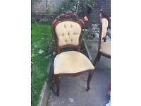 4x French rococo dining chairs