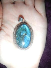 Labradorite Pendant fits in palm