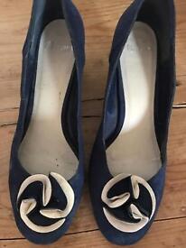 Navy kitten heels