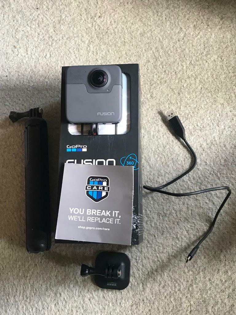 GoPro fusion used once! + 2 128gb ultra fast SD card | in Lewes, East  Sussex | Gumtree