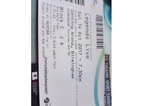 Ticket for legends live at genting arena