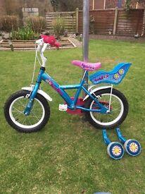"""Apollo girls bike - 14"""" (ages 3-6)"""
