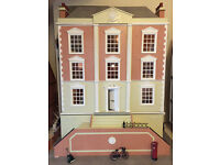 Beautiful Dollshouse with Basement - built, decorated and lit. Collector's item, not a toy.
