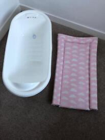 Baby bath and mat