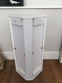 Wall mounted corner mirrored bathroom cabinet