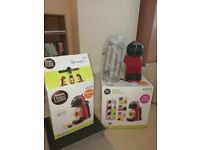 Krups Nescafe Dolce Mini Coffee Pod Machine in Red - Nearly new condition with extras