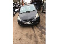 2004 Honda Jazz Se 5dr Hatchback 1.4 Petrol Black BREAKING FOR SPARES