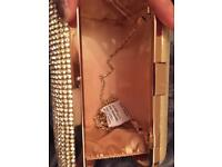 Silver clutch with chain never been used.