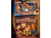 2 games meccano build set and secrets treats chocolate coin maker . £8 each or both for £15 !