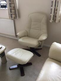 Recliner and swivel seat plus foot stool in very good condition , £50