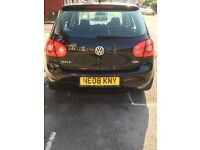 1.9 Diesel Black Volkswagen Golf 2008 LOW MILEAGE