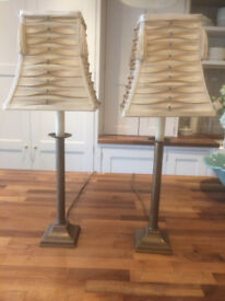 Pair of Table Lamps with Shaded