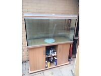 367 litre glass fish aquarium