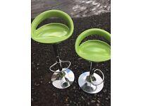 Pair of modern height adjustable bar stools