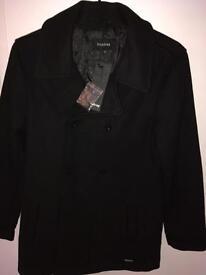 Brand new men's pea coat jacket