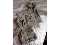 0-1 months & 3-6 months fleece jackets for boy or girl