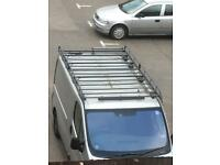 Universal roof rack with rollers and ladders seat bulk