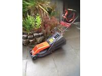 Flymo RE300 lawnmower & grass collection box, steel blade.