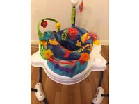 Jumperoo, bouncer and mat