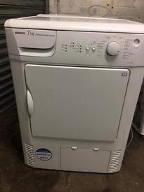 Tumble dryer beko condenser 7kg white