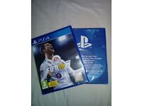 PS4 FIFA 18 with code for extras. Both sealed, Brand new