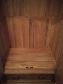 Solid oak wardrobe from oak furniture land.
