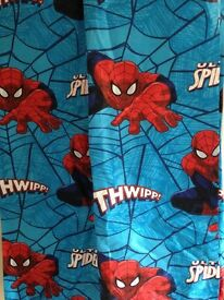 "Spider-Man curtains 64"" width x 54"" drop pencil pleat NEW"