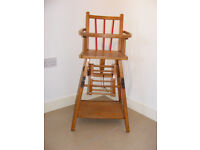 Antique French Metamorphic High Chair