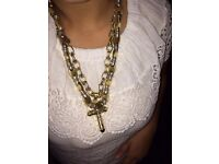 2 GOLD MALE CHAINS 14ct 183 GR