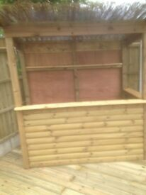 TIMBER OUTDOOR BAR 6ft x 3ft - delivered / installed ANY LOCATION
