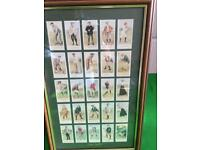 Golf Picture Cigarette Cards in two Frames