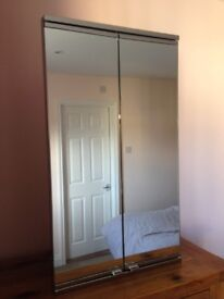 Large corner chrome and mirrored bathroom cabinet, great storage, cost over £200 selling for £35 !!!