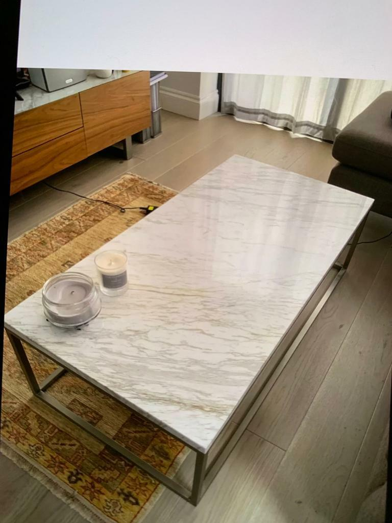 Dwell Coffee Table.Dwell Coffee Table Marble Rectangular White Excellent Condition Bought In Dec 2018 In Putney London Gumtree