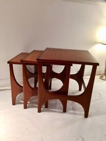 Retro vintage mid cent nesting tables
