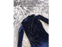 Blue catsuit
