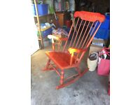 Wooden adult rocking chair. Adult size.