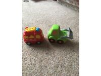 Vtech toot toot drivers fire engine and bulldozer.